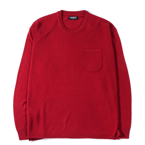 METICULOUS KNITWEAR HENNESSY LS KNIT TEE RED