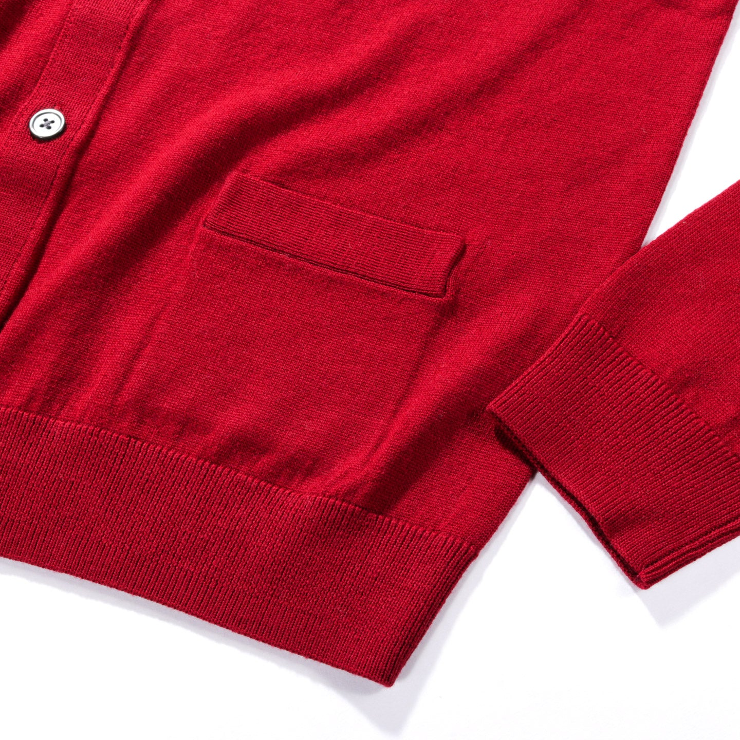 METICULOUS KNITWEAR WOODSTOCK CARDIGAN RED
