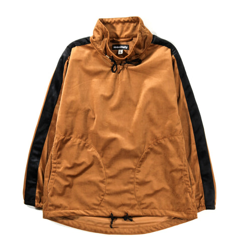 MONITALY MOCK NECK PULLOVER SILKY VELVET GOLDEN BROWN