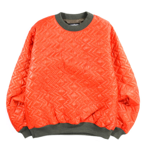 MONITALY QUILTED CREWNECK PULLOVER ZIGZAG ORANGE