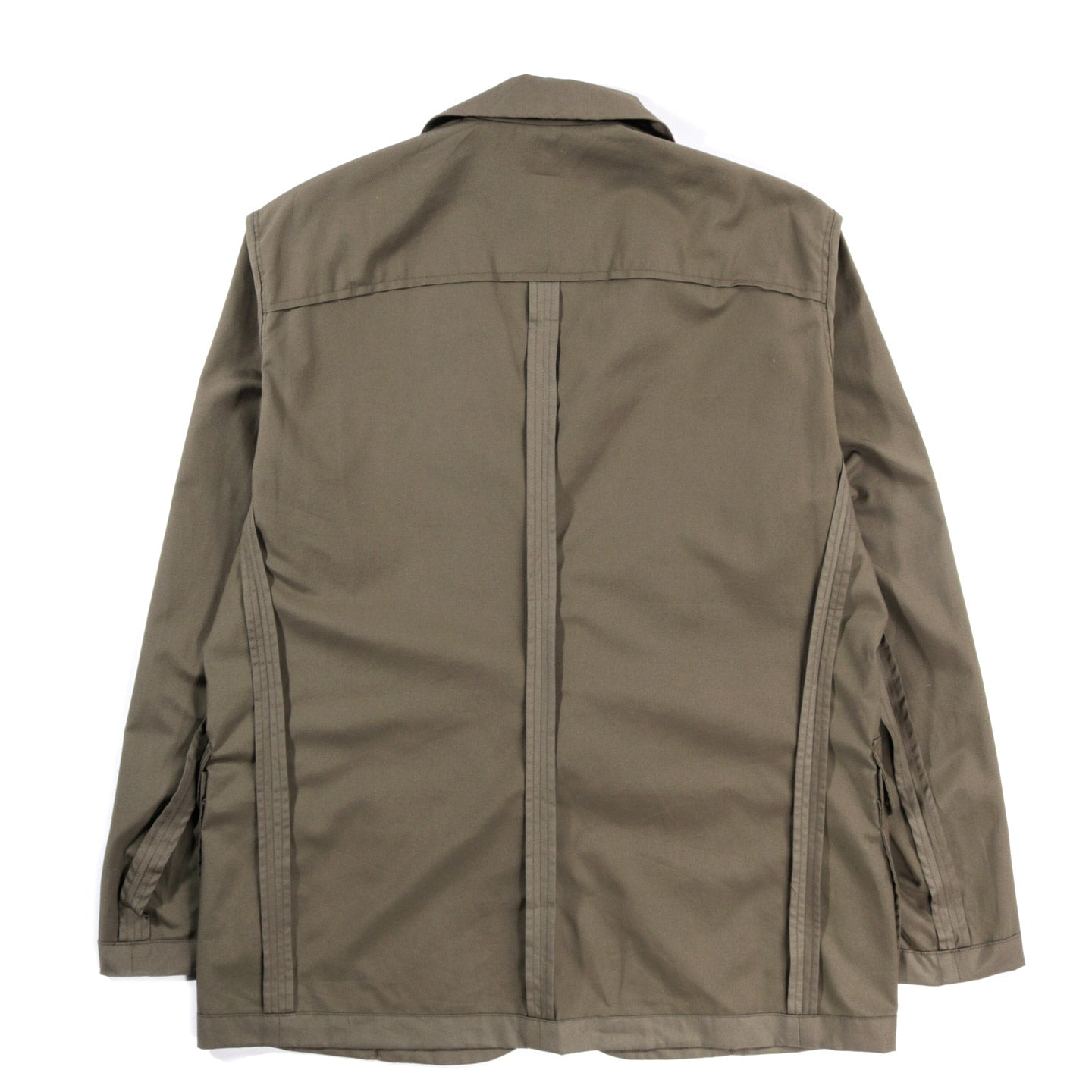 MONITALY URA LOW LAPEL BLAZER VANCLOTH OXFORD OLIVE