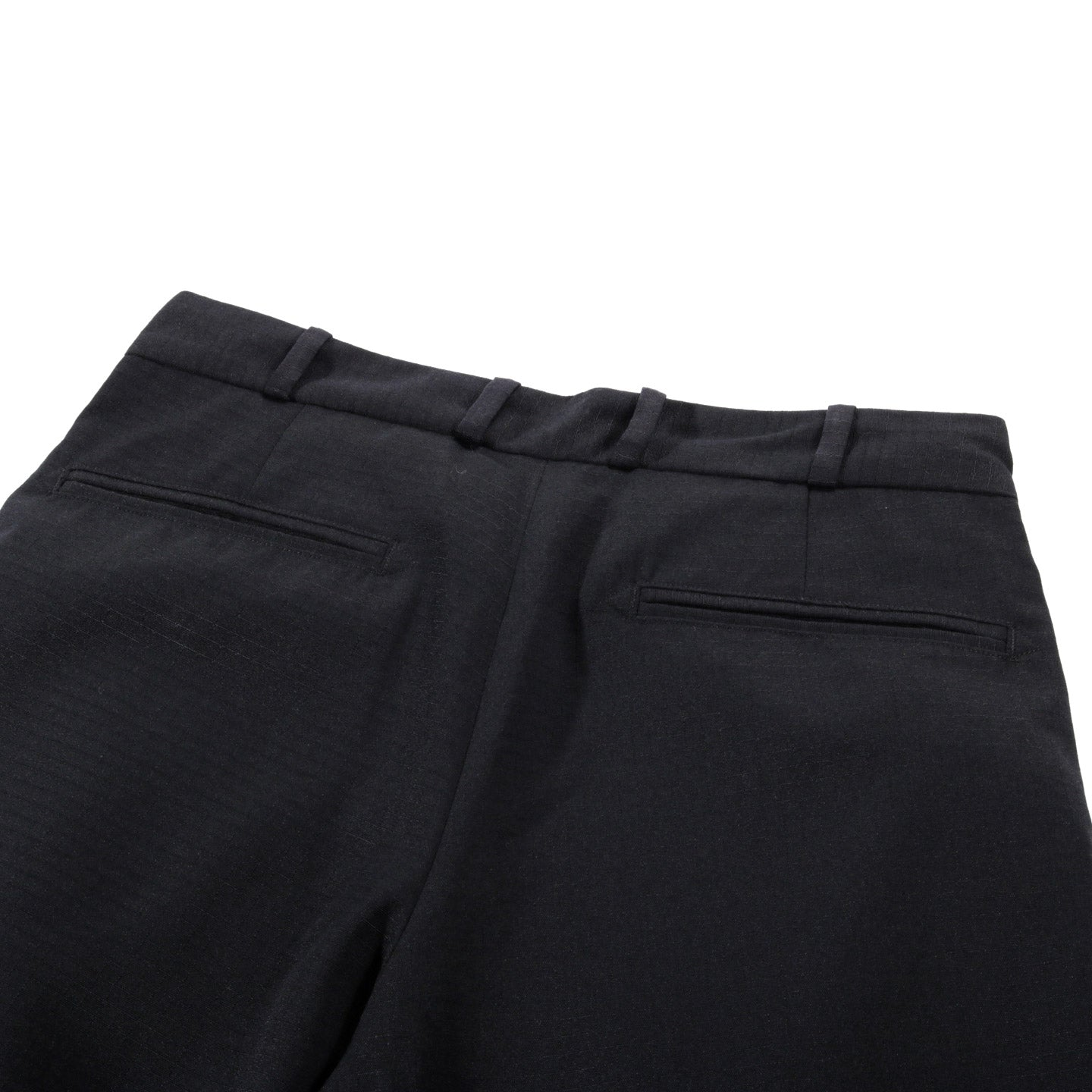 MONITALY TRIPLE TUCK WIDE PANTS SEGAL RIPSTOP BLACK