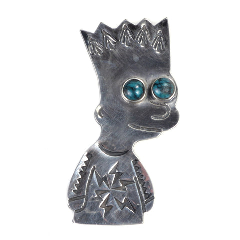 MUNQA BOY BROOCH STERLING SILVER