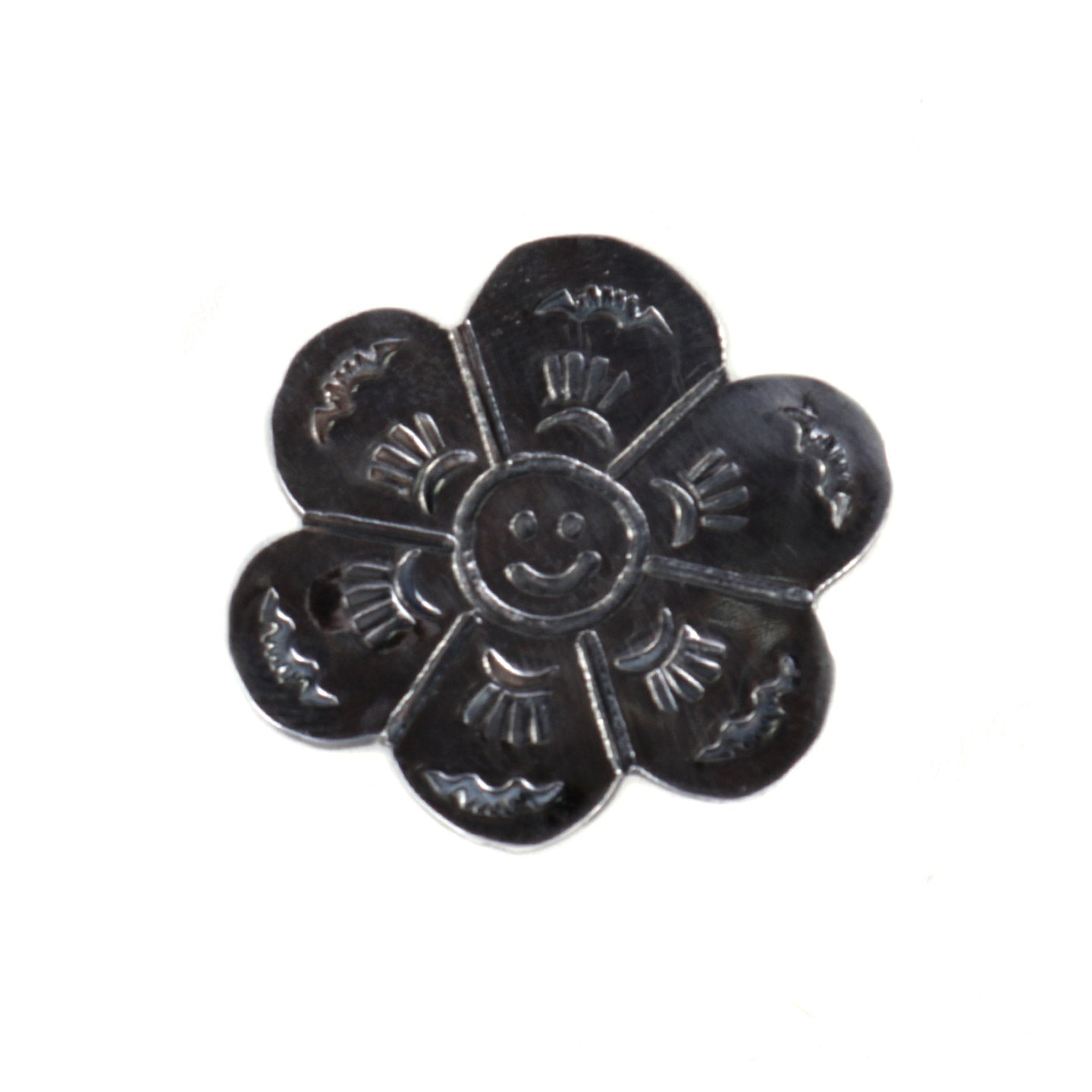 MUNQA FLOWER PIN STERLING SILVER