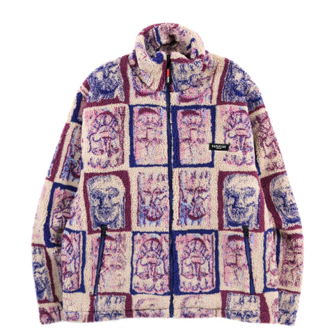 NAPAPIJRI BY MARTINE ROSE T-LOKKA FLEECE JACKET PINK AOP