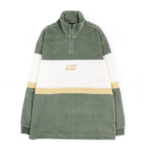 NAPAPIJRI BY MARTINE ROSE B-UNARI HZ QUARTER ZIP GREEN SEA