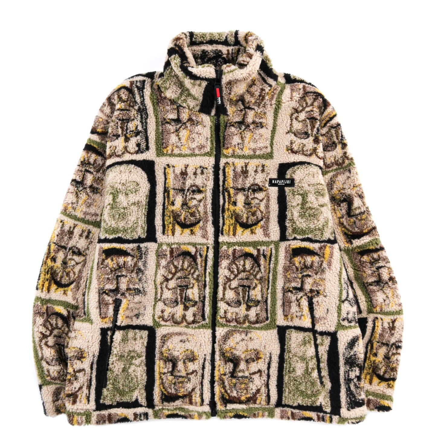 NAPAPIJRI BY MARTINE ROSE T-LOKKA FLEECE JACKET GREEN AOP