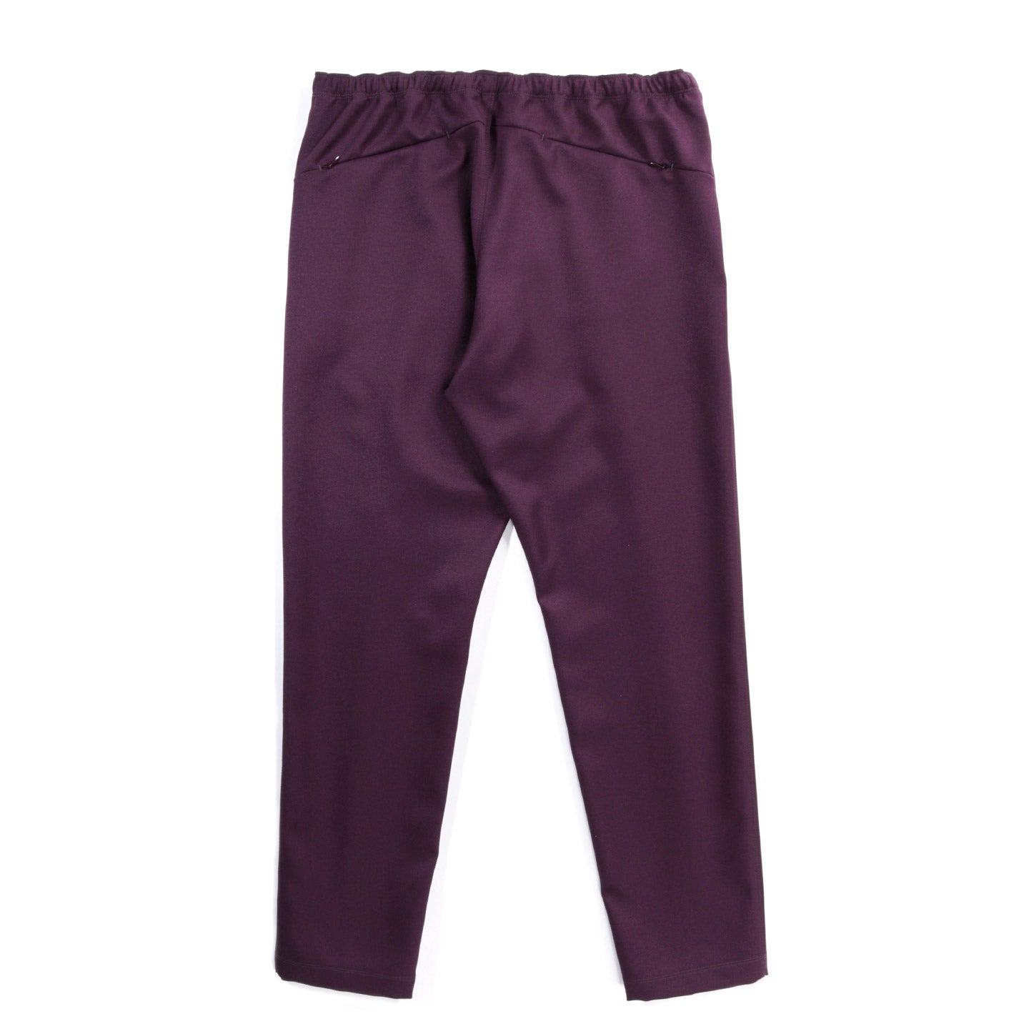 NEEDLES WARM UP PANT POLY COTTON TWILL BORDEAUX