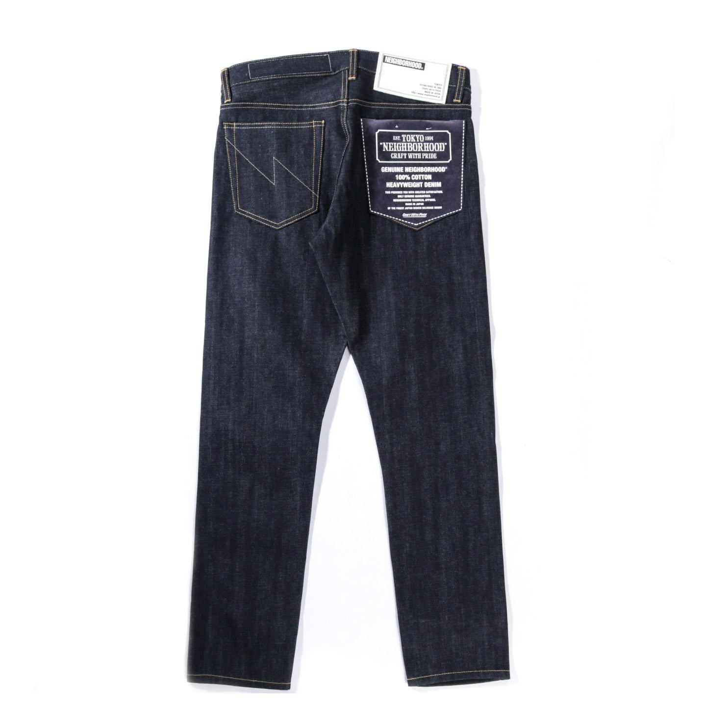 NEIGHBORHOOD RIGID DP NARROW 14OZ INDIGO