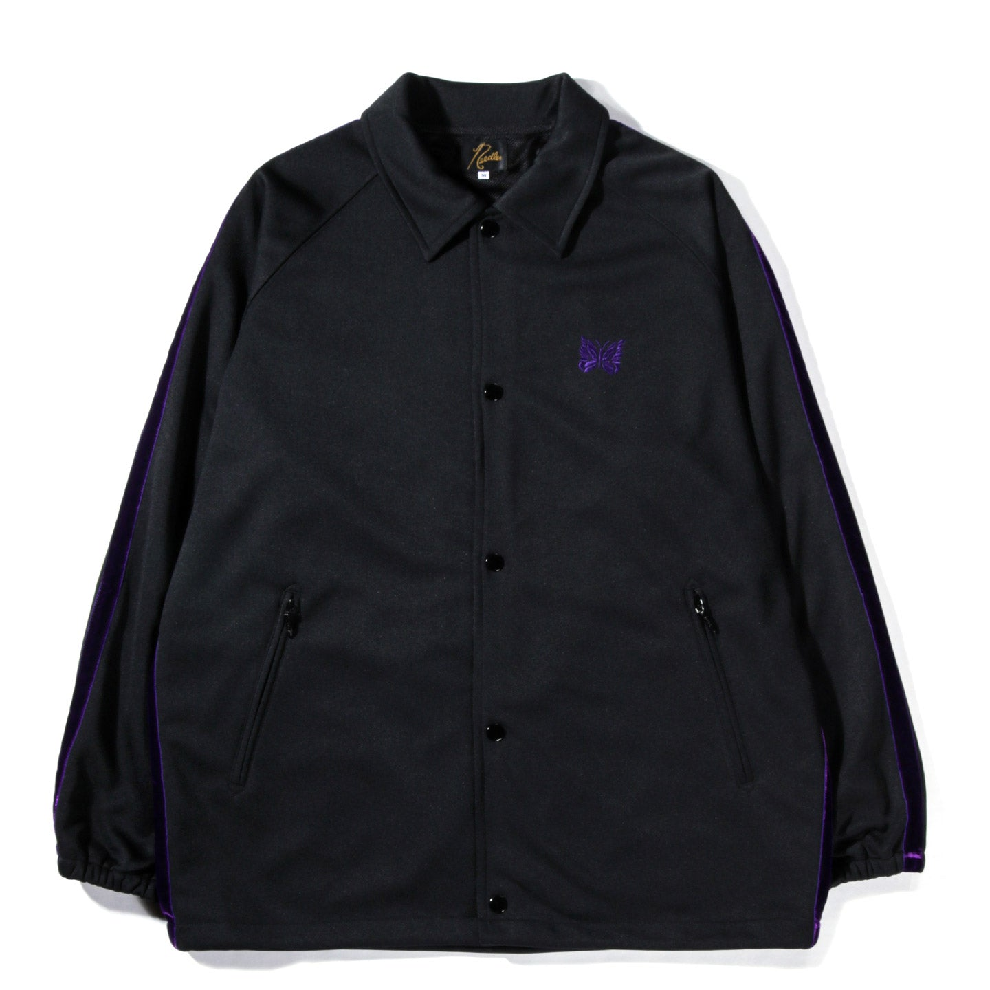 NEEDLES SIDE LINE COACH JACKET POLY SMOOTH BLACK