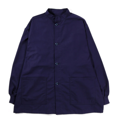 NEEDLES STAND COLLAR ARMY SHIRT NAVY
