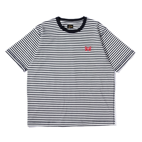 NEEDLES SS PAPILLON EMB TEE OFF WHITE