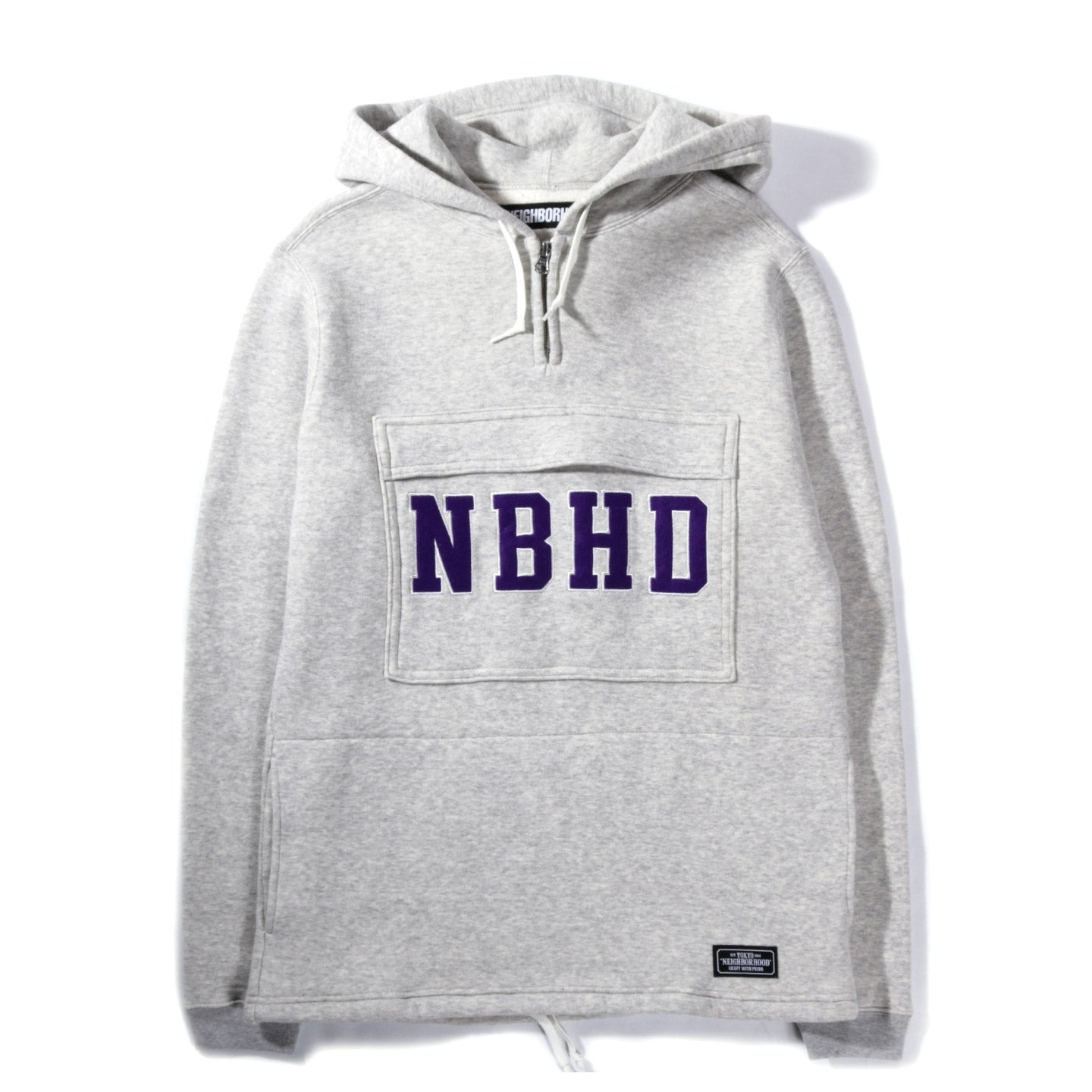 NEIGHBORHOOD LOGIC HOODED SWEATSHIRT GRAY