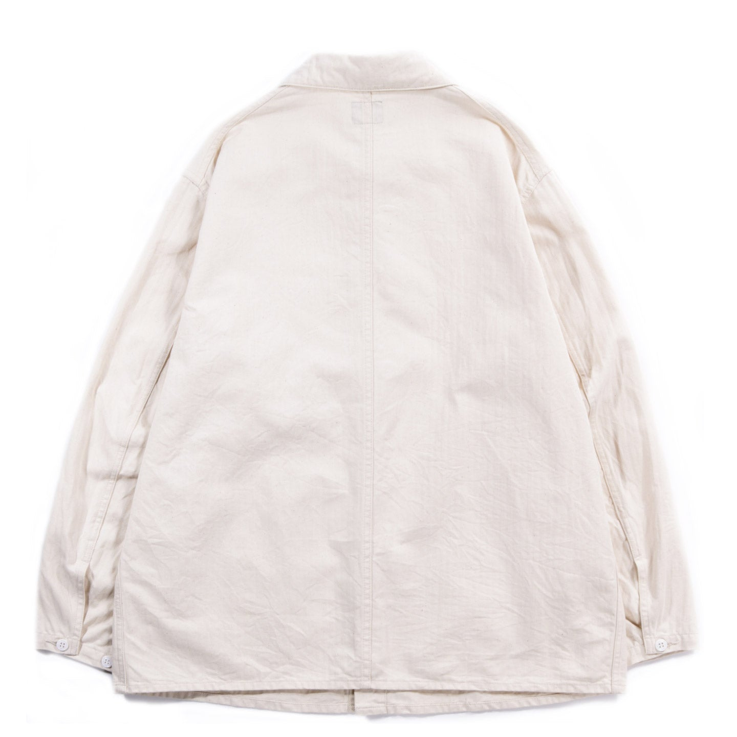 NEEDLES D.N. COVERALL JACKET COTTON HERRINGBONE OFF WHITE