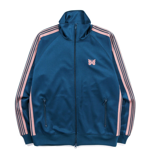 NEEDLES TRACK JACKET POLY SMOOTH TEAL GREEN