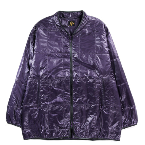 NEEDLES PIPING QUILT JACKET NYLON TAFFETA PURPLE