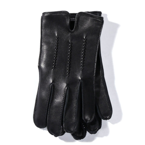 NEIGHBORHOOD LEATHER EM GLOVES BLACK