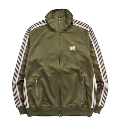 NEEDLES TRACK JACKET POLY SMOOTH OLIVE