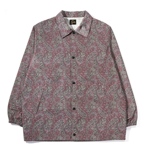 NEEDLES COACH JACKET POLY TAFFETA PAISLEY