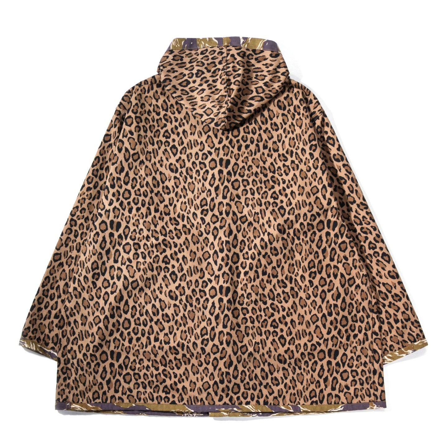 NEEDLES REVERSIBLE BUSH PARKA LEOPARD / TIGER CAMO