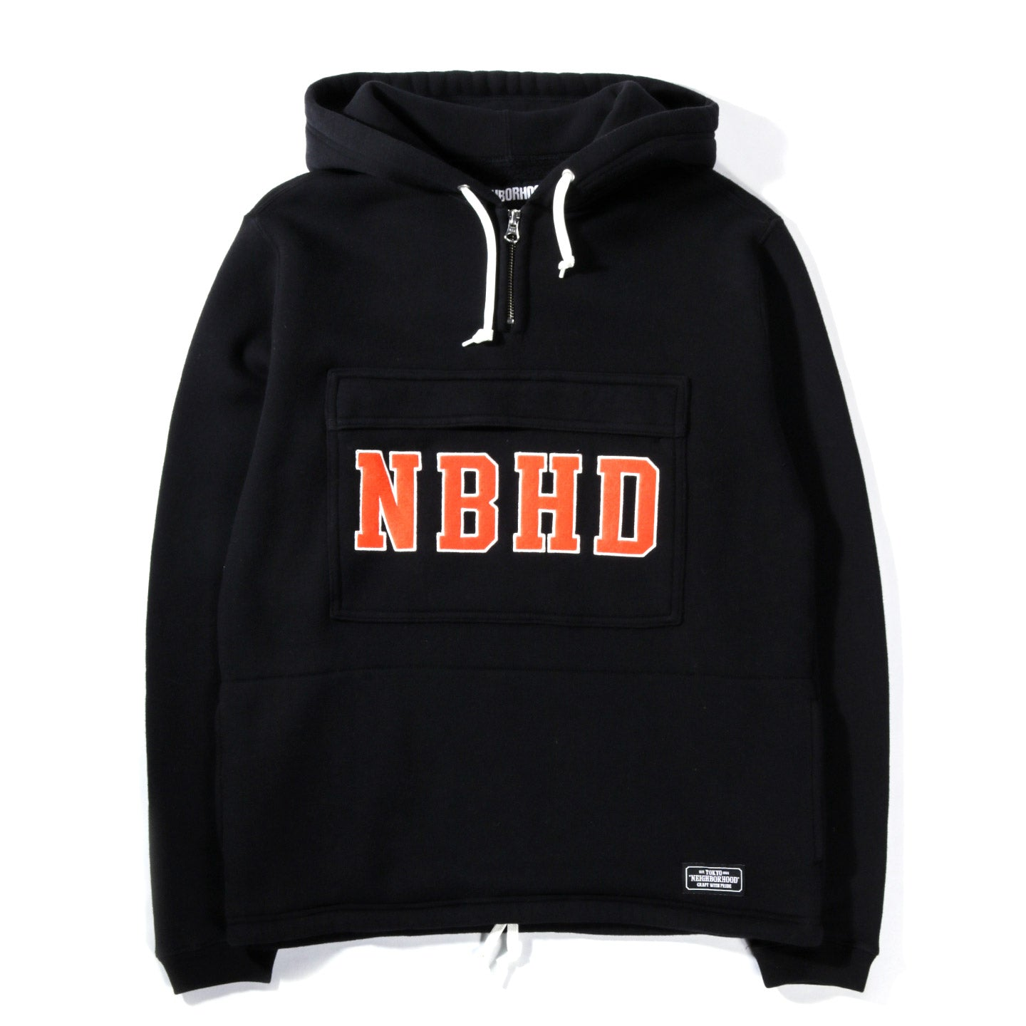 NEIGHBORHOOD LOGIC HOODED SWEATSHIRT BLACK