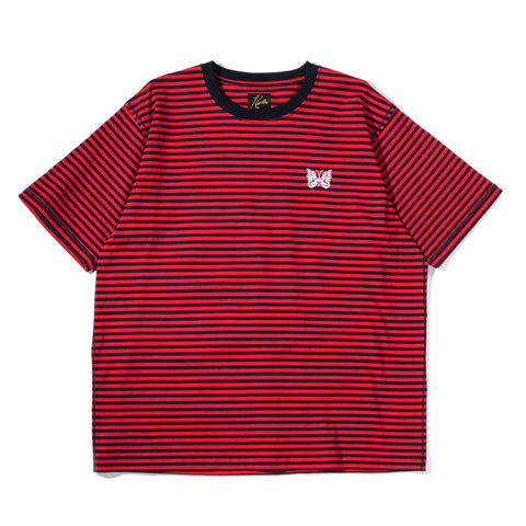 NEEDLES SS PAPILLON EMB TEE RED
