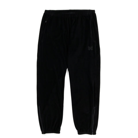 NEEDLES ZIPPED SWEAT PANT VELOUR BLACK