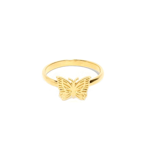 NEEDLES PAPILLON RING 18K GOLD PLATED