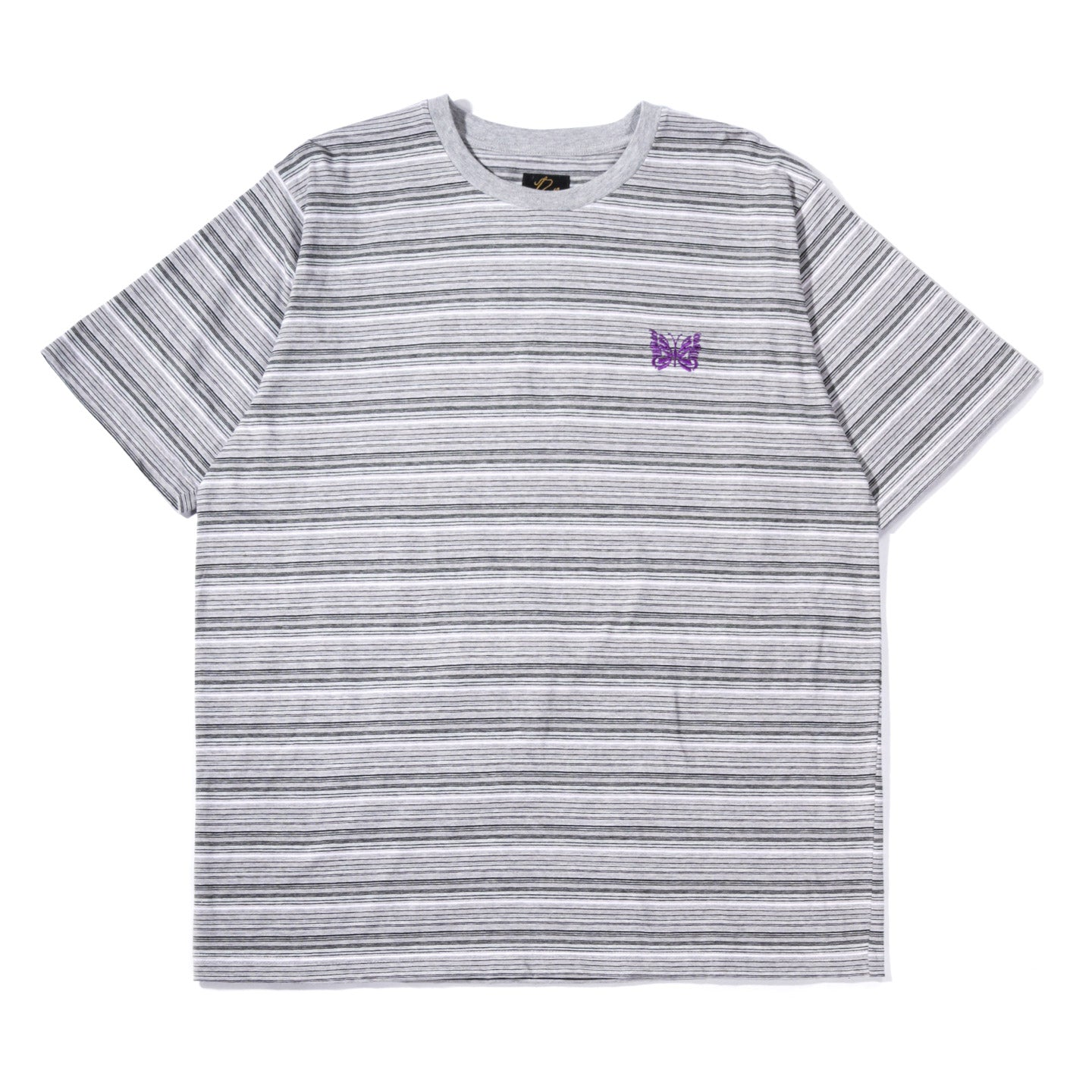 NEEDLES SS PAPILLON EMB TEE GREY