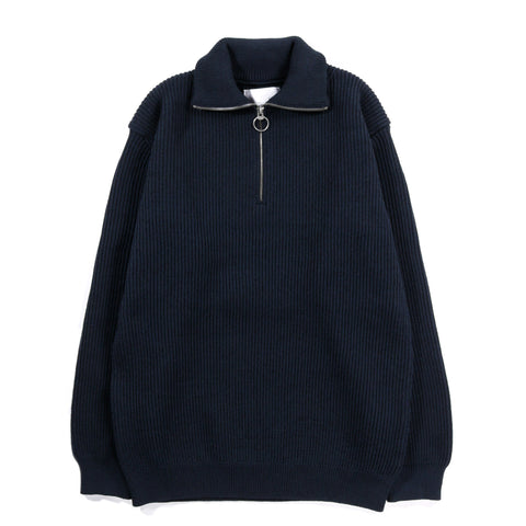 NANAMICA HALF ZIP SWEATER DARK NAVY