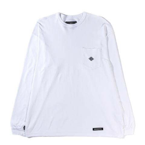 NEIGHBORHOOD SMOOTH LS CREW WHITE