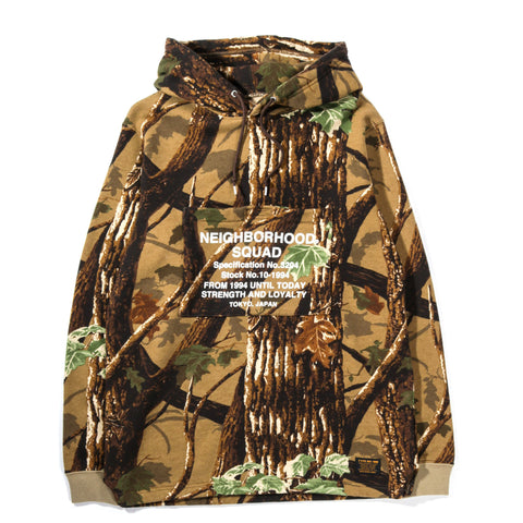 NEIGHBORHOOD OVERLAP HOODED SWEATSHIRT CAMOUFLAGE