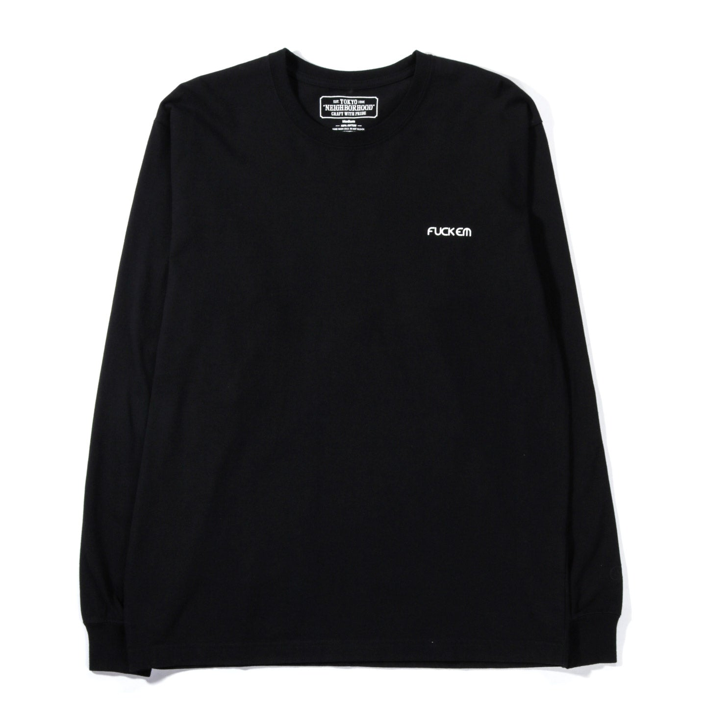 NEIGHBORHOOD EATER LS TEE BLACK