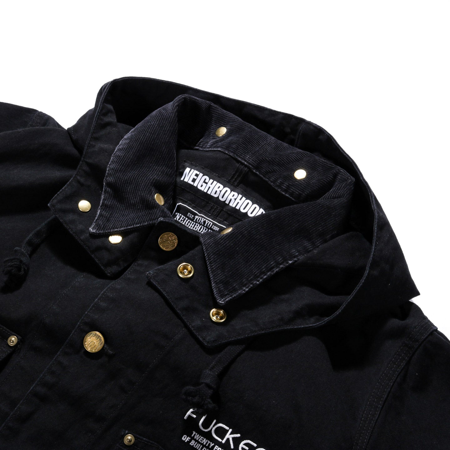 NEIGHBORHOOD DUCK COVERALL JACKET BLACK