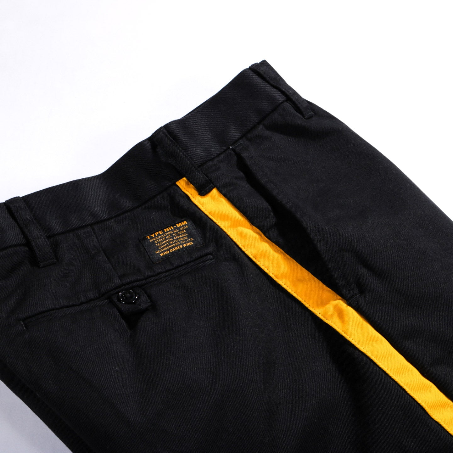 NEIGHBORHOOD MILITARY TROUSERS BLACK