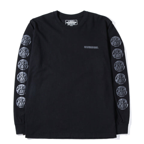 NEIGHBORHOOD EM LS T-SHIRT BLACK