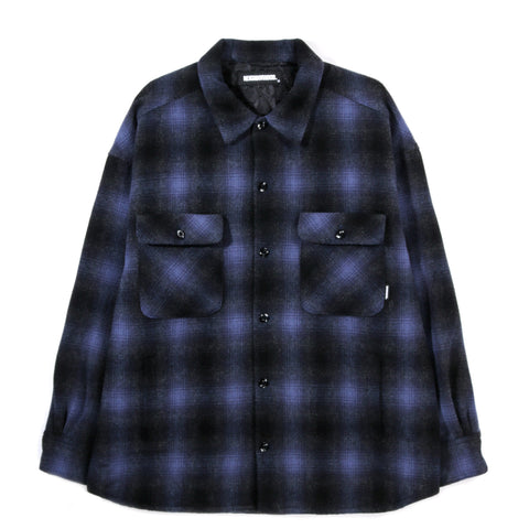 NEIGHBORHOOD WOOL SHIRT JACKET FADE BLUE