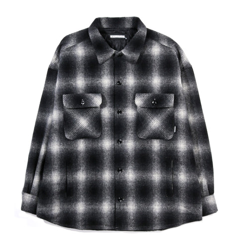 NEIGHBORHOOD WOOL SHIRT JACKET FADE BLACK