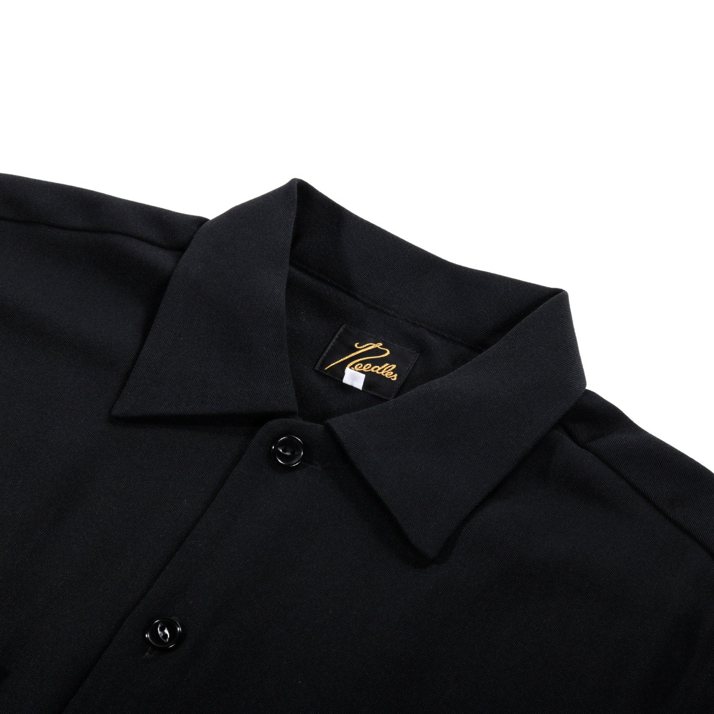 NEEDLES C.O.B. ONE-UP SHIRT POLY WOOL DOESKIN BLACK