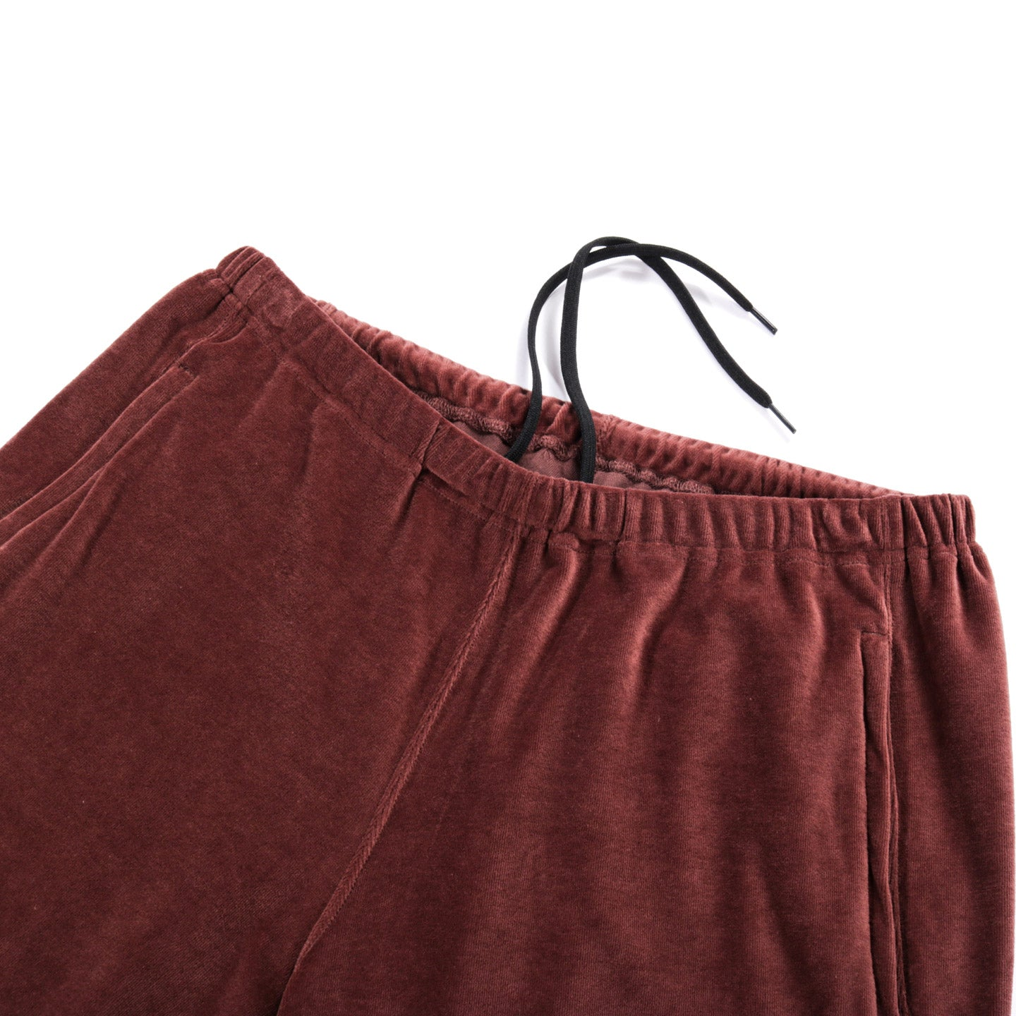 NEEDLES ZIPPED SWEAT PANT VELOUR BROWN