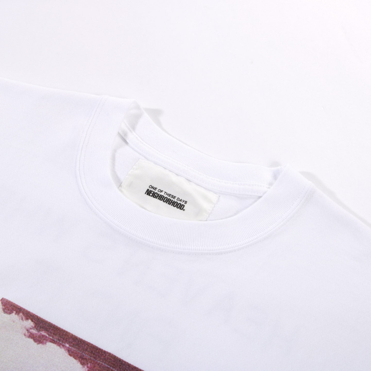 NEIGHBORHOOD ONE OF THESE DAYS SS T-SHIRT 1 WHITE
