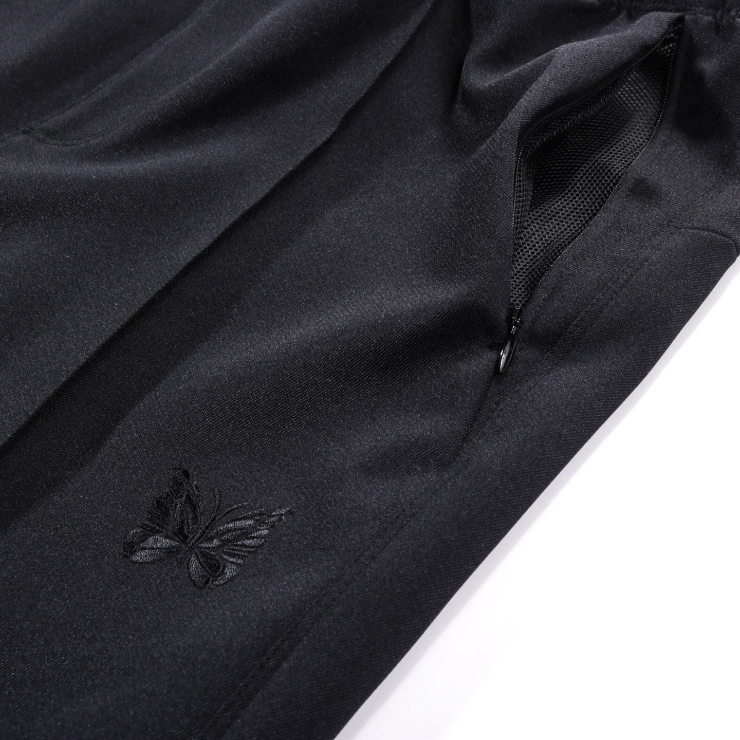 NEEDLES WARM UP PANT POLY COTTON TWILL BLACK