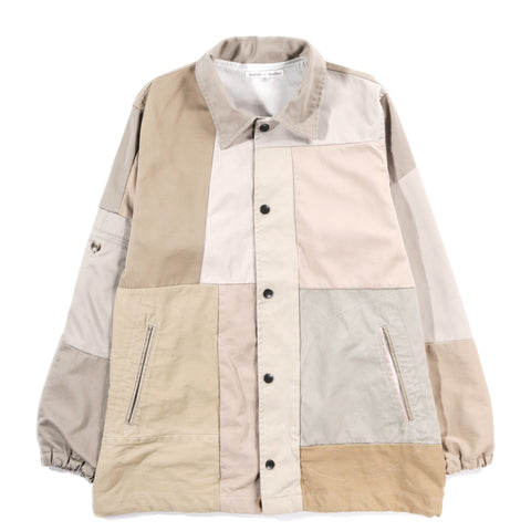 REBUILD BY NEEDLES CHINO PANT COACH JACKET KHAKI - XS (A)