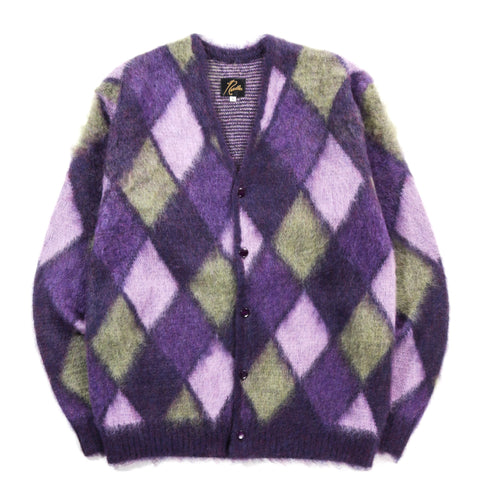 NEEDLES MOHAIR CARDIGAN MOSAIC PURPLE