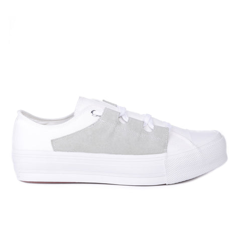 NEEDLES ASYMMETRIC GHILLIE SNEAKER WHITE