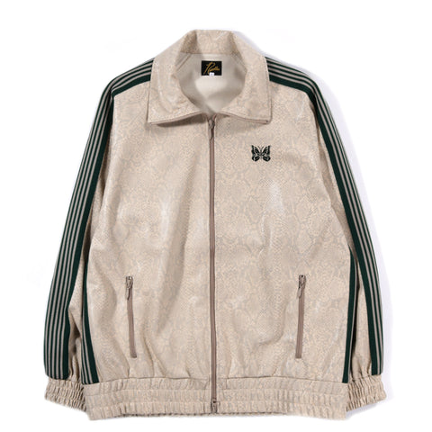 NEEDLES TRACK JACKET SYNTHETIC PYTHON BEIGE