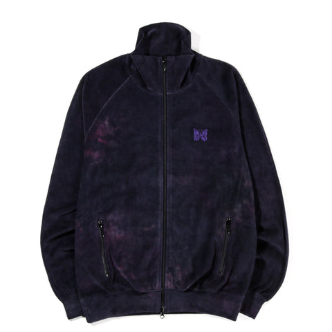 NEEDLES TRACK JACKET VELOUR UNEVEN DYE BLACK