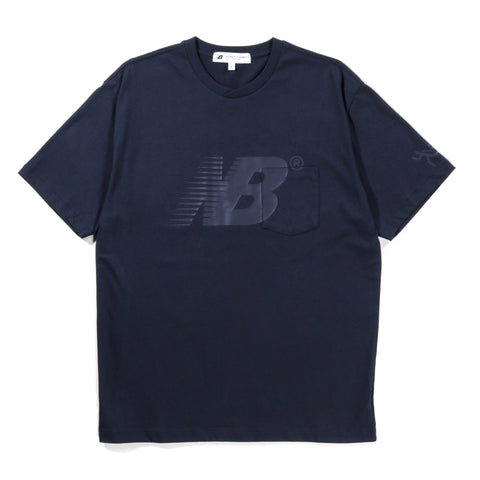 NEW BALANCE ENGINEERED GARMENTS CROSS T-SHIRT NAVY