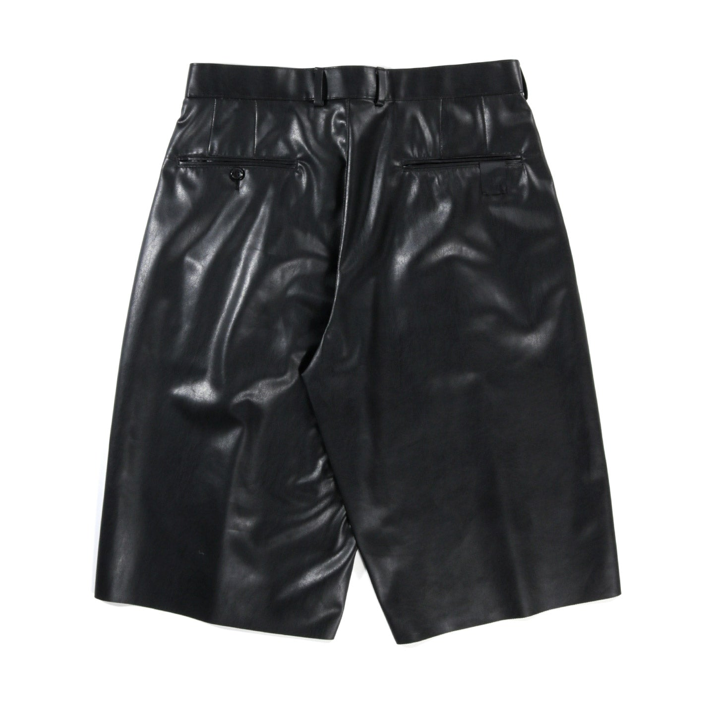 N.HOOLYWOOD 2211-PT50 HALF PANTS SYNTHETIC LEATHER BLACK