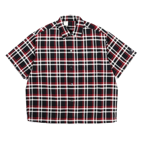 N.HOOLYWOOD 1201-SH10 UNDERCOVER SHORT SLEEVE SHIRT BLACK CHECK